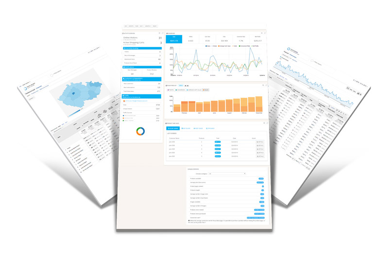 Tvorba e-shopu - statistiky provozu e-shopu