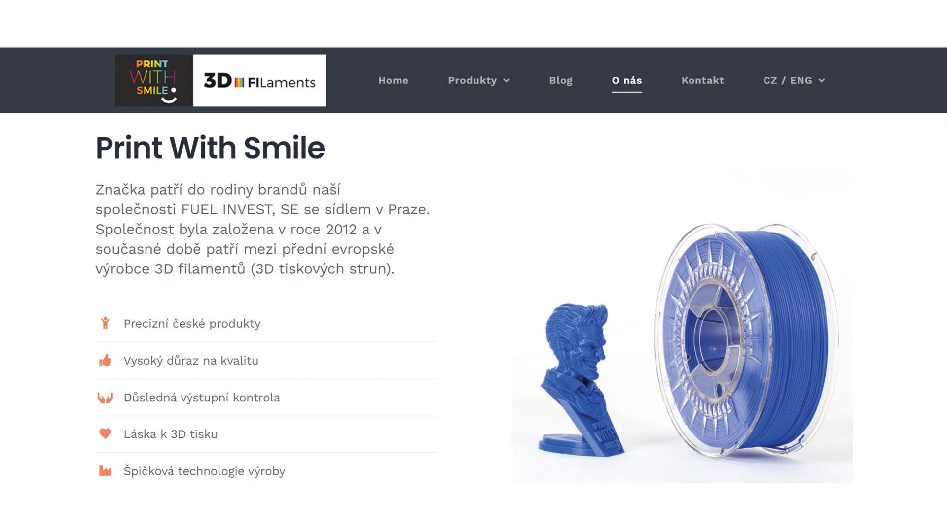 Print With Smile - ukázka z webu